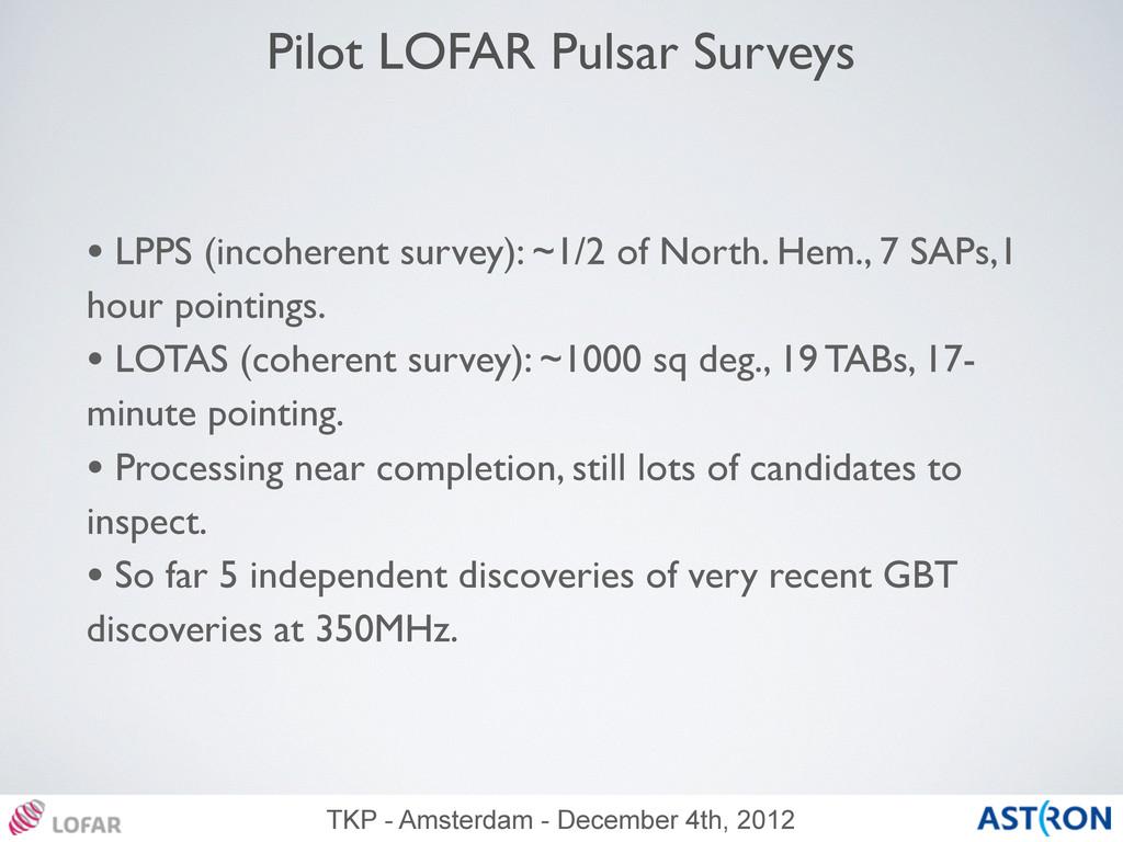 TKP - Amsterdam - December 4th, 2012 Pilot LOFA...
