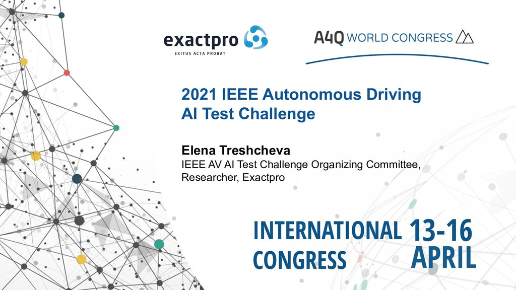2021 IEEE Autonomous Driving AI Test Challenge ...