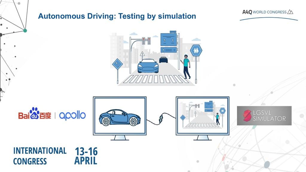 Autonomous Driving: Testing by simulation