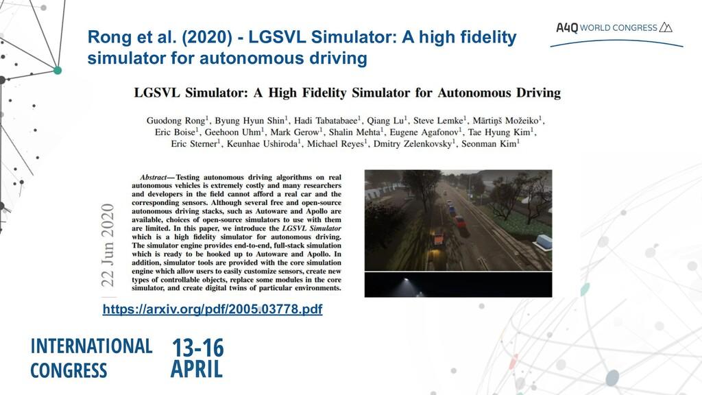 https://arxiv.org/pdf/2005.03778.pdf Rong et al...