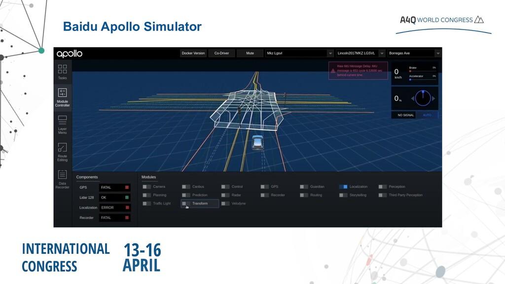 Baidu Apollo Simulator