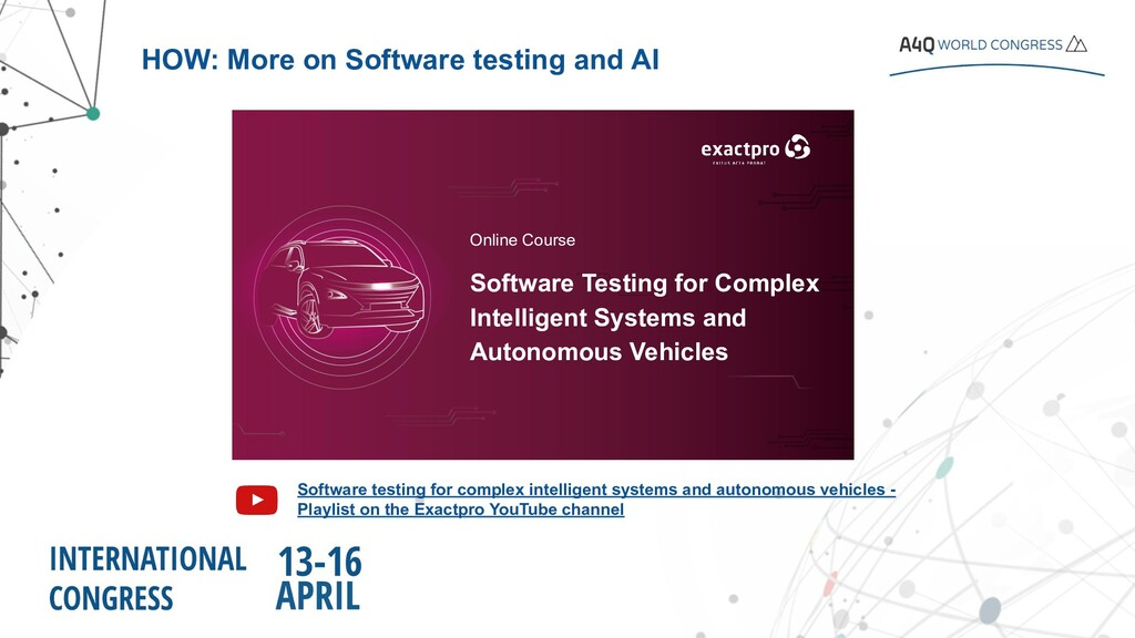 Software testing for complex intelligent system...