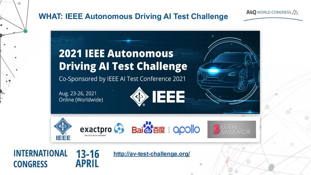 http://av-test-challenge.org/ WHAT: IEEE Autono...