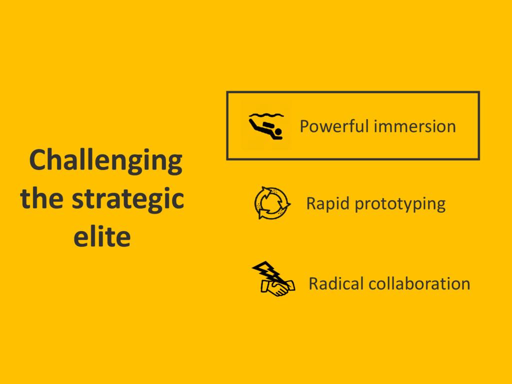 Challenging the strategic elite Rapid prototypi...