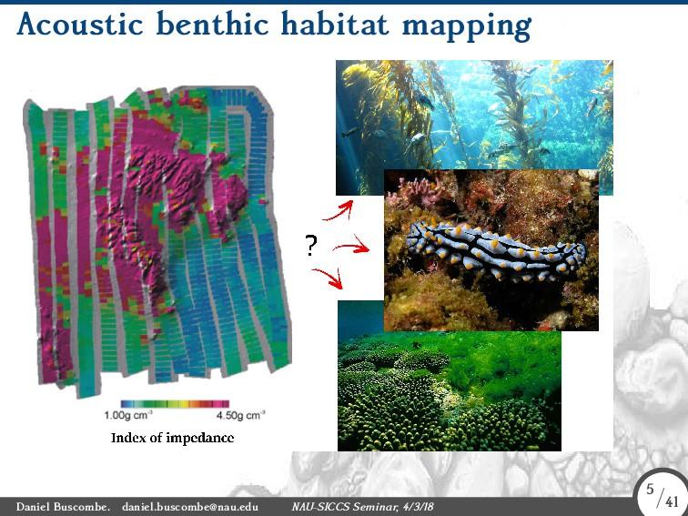 Acoustic benthic habitat mapping Daniel Buscomb...