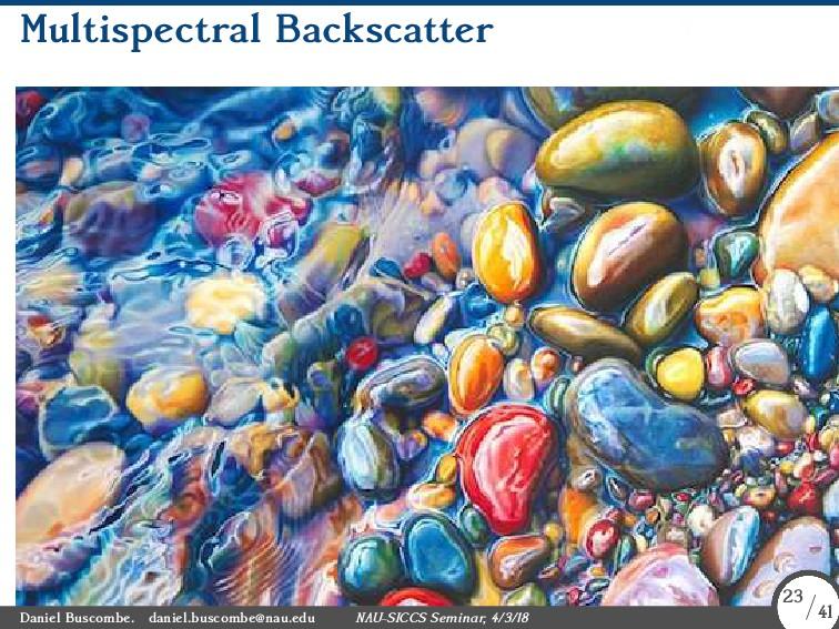 Multispectral Backscatter Daniel Buscombe. dani...