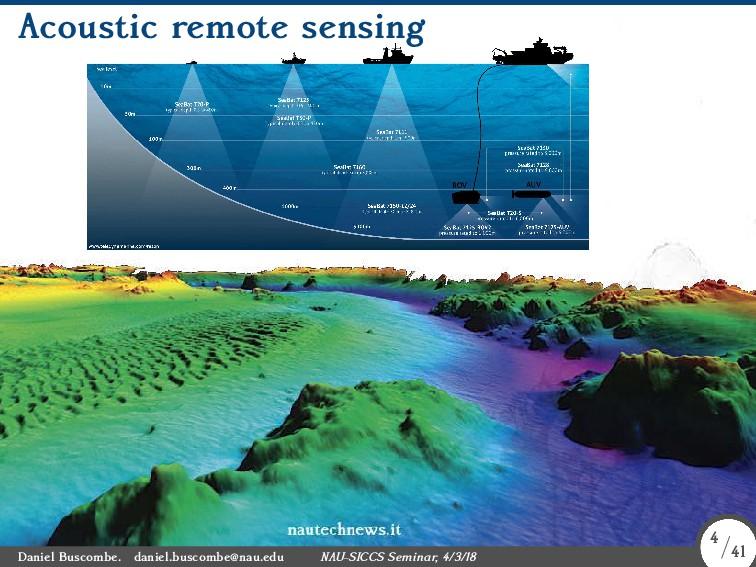 Acoustic remote sensing Daniel Buscombe. daniel...