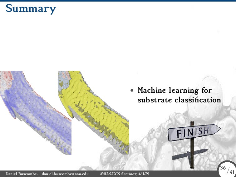 Summary • Machine learning for substrate classi...