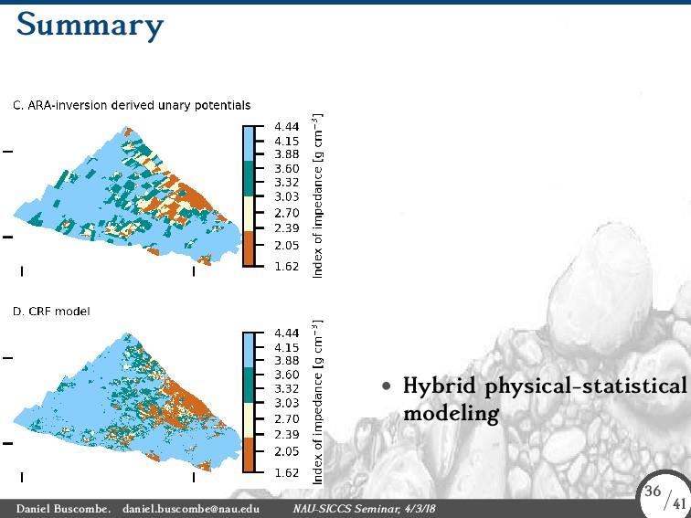 Summary • Hybrid physical-statistical modeling ...