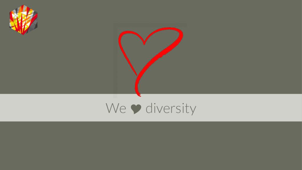 We  diversity