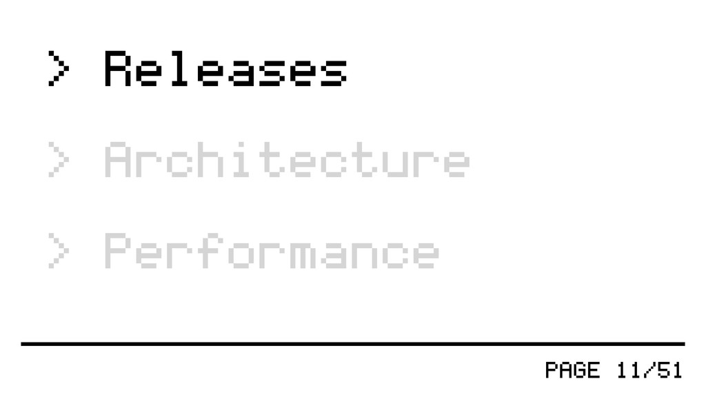 PAGE 11/51 > Releases > Architecture > Performa...
