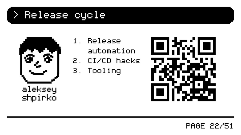 PAGE 22/51 > Release cycle 1. Release automatio...