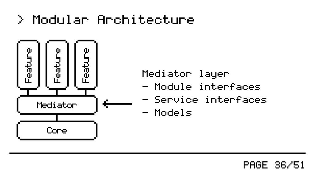 PAGE 36/51 > Modular Architecture Mediator laye...