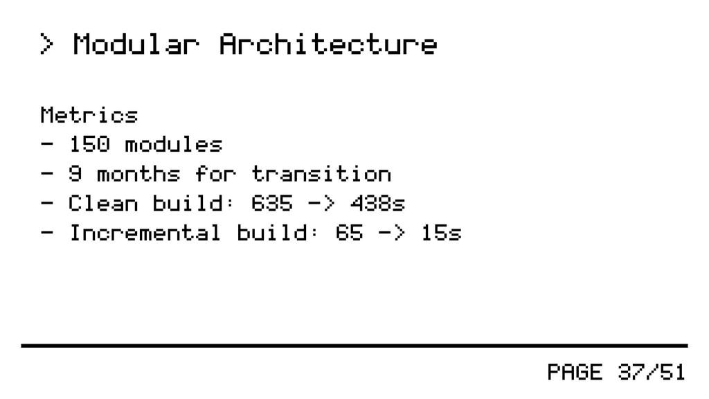 PAGE 37/51 > Modular Architecture Metrics - 150...
