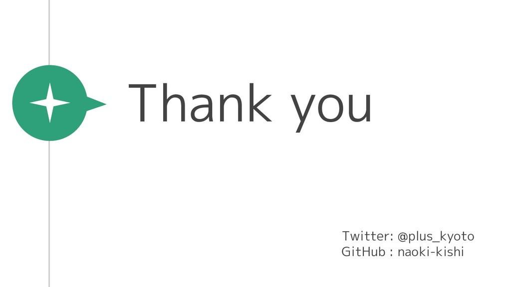 Thank you Twitter: @plus_kyoto GitHub : naoki-k...