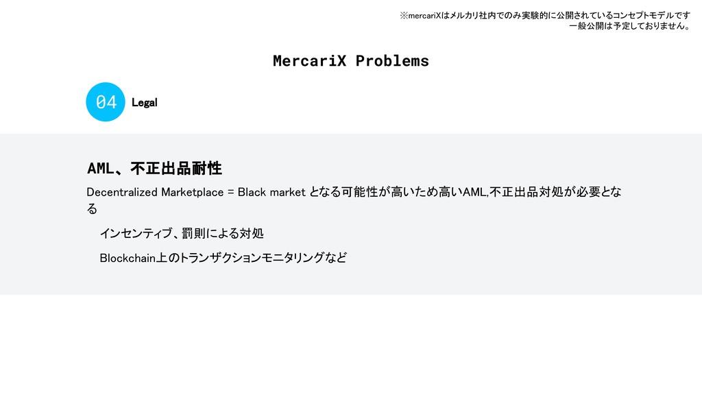 MercariX Problems Legal 04 AML、不正出品耐性 Decentral...