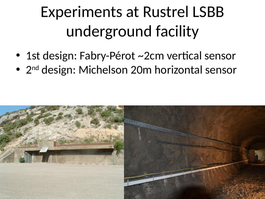 Experiments at Rustrel LSBB underground facilit...