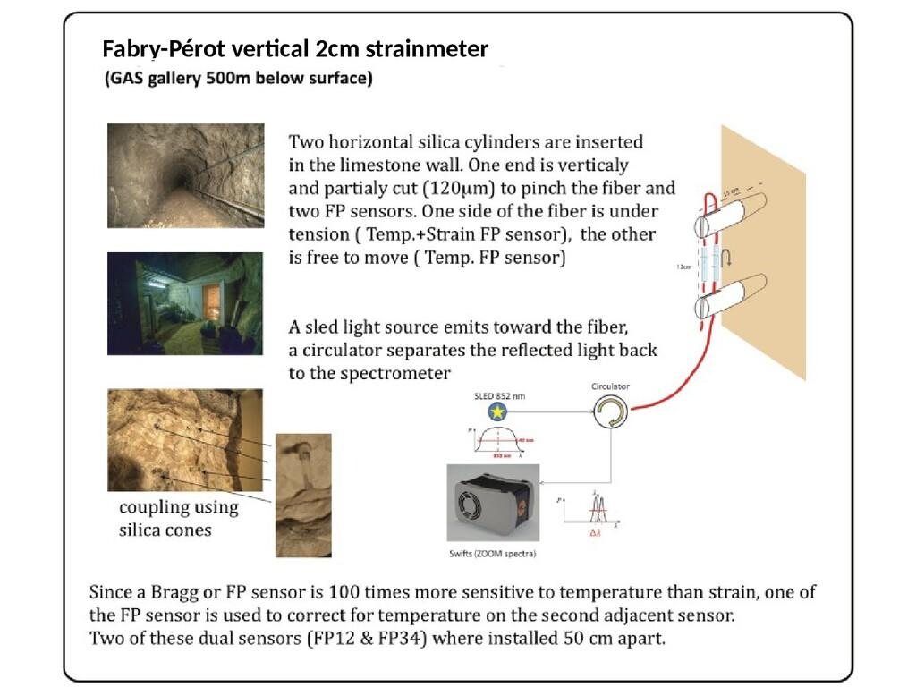 Fabry-Pérot vertical 2cm strainmeter