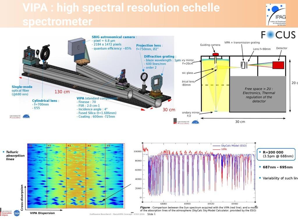 VIPA : high spectral resolution echelle spectro...
