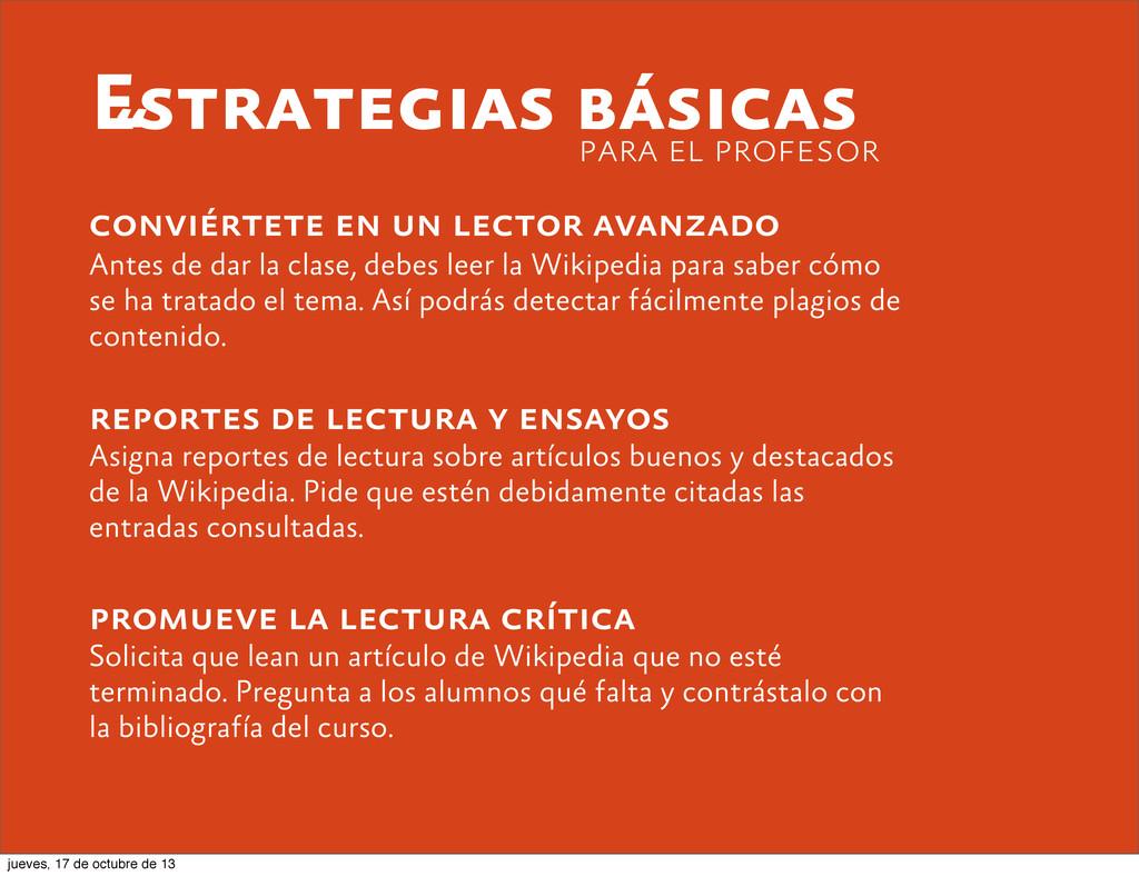 Estrategias básicas conviértete en un lector av...