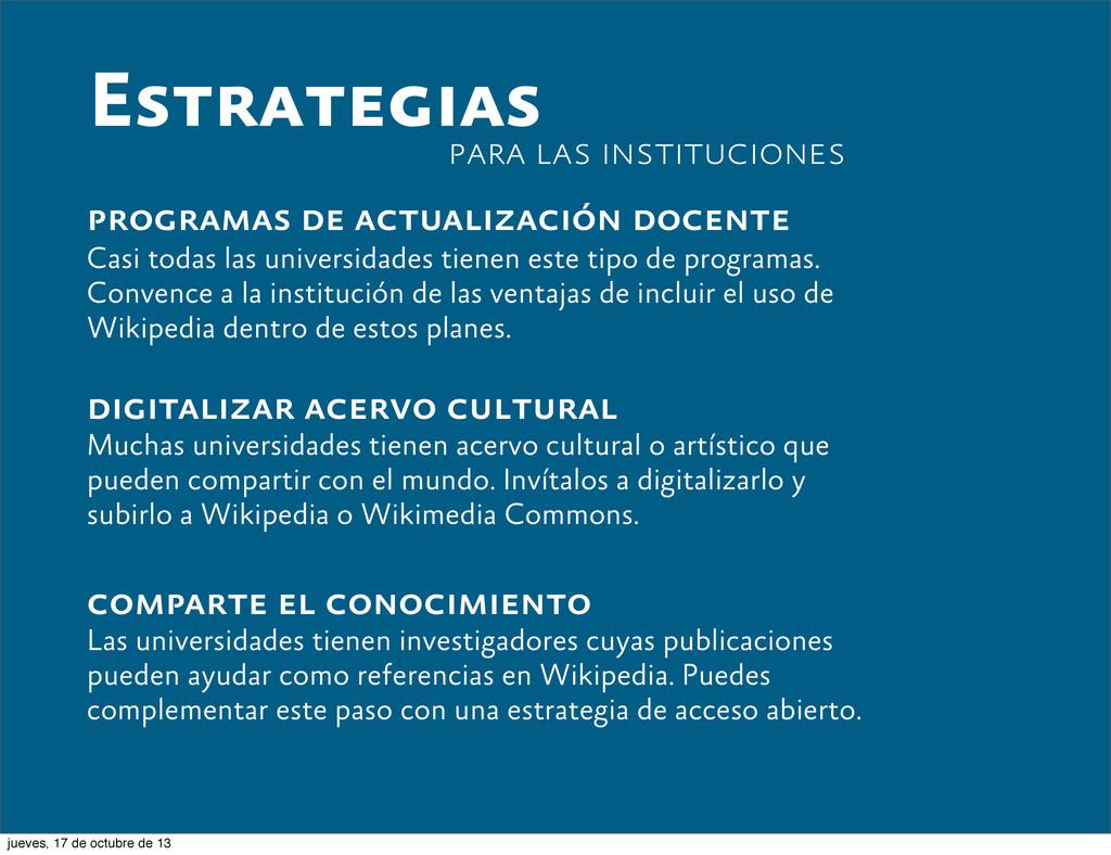 Estrategias programas de actualización docente ...