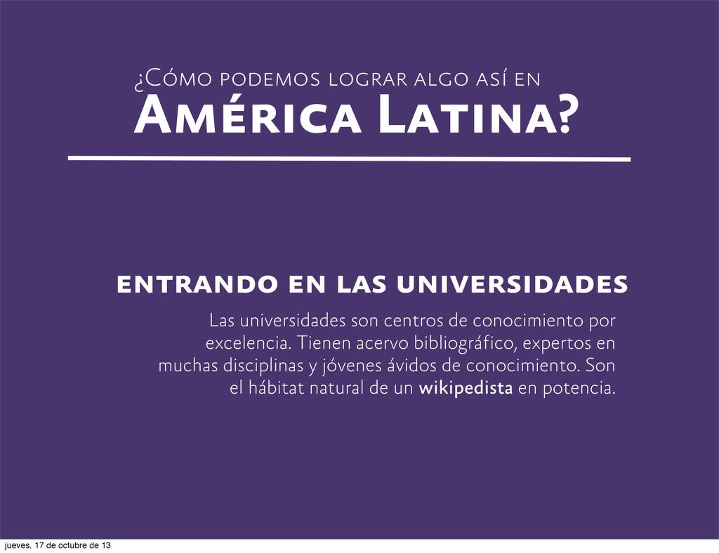 ¿Cómo podemos lograr algo así en América Latina...