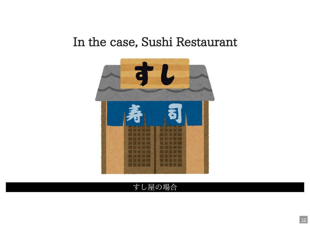In the case, Sushi Restaurant すし屋の場合 12