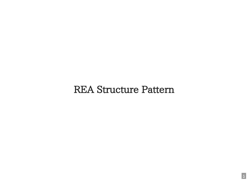 REA Structure Pattern 5