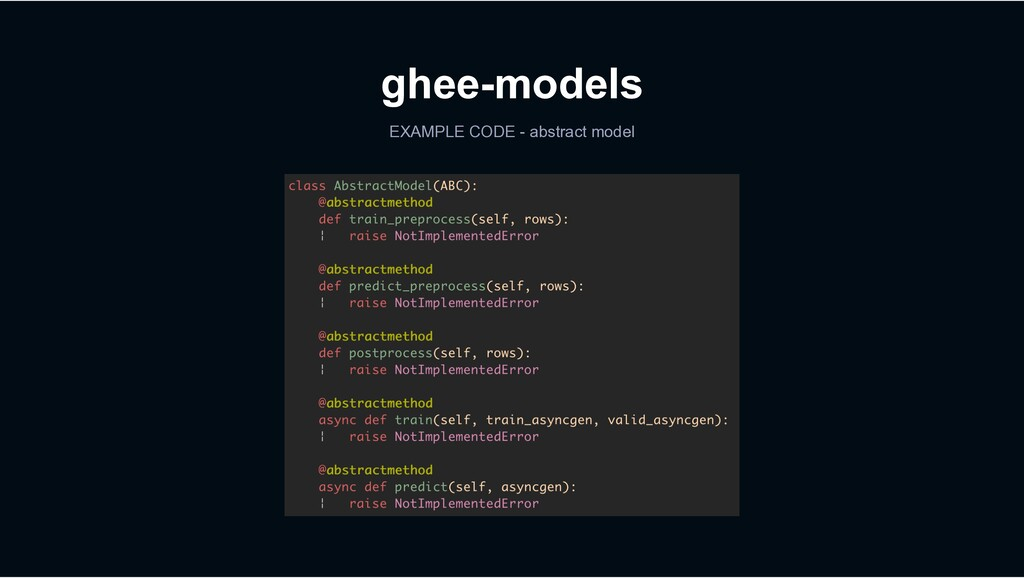 ghee-models EXAMPLE CODE - abstract model