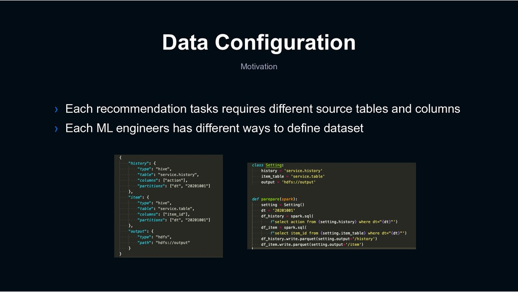 Data Configuration Motivation › Each recommenda...