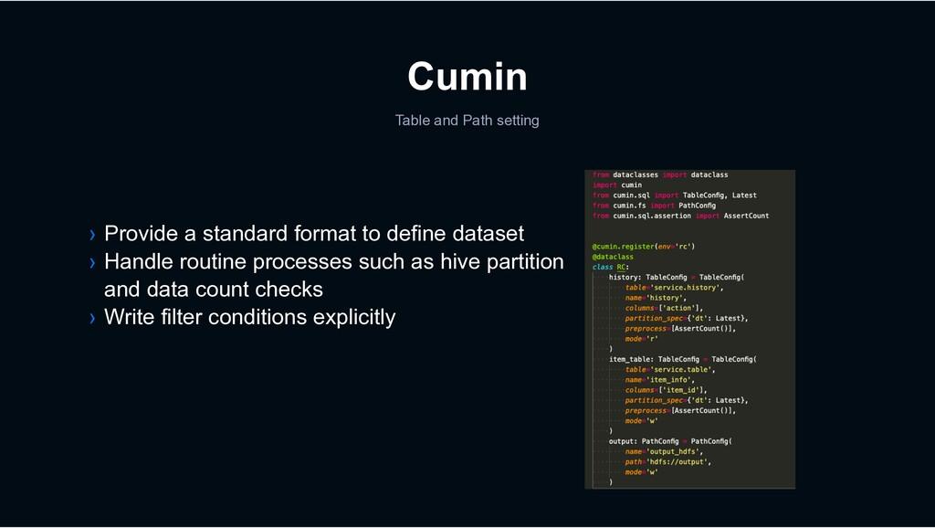 Cumin › Provide a standard format to define dat...