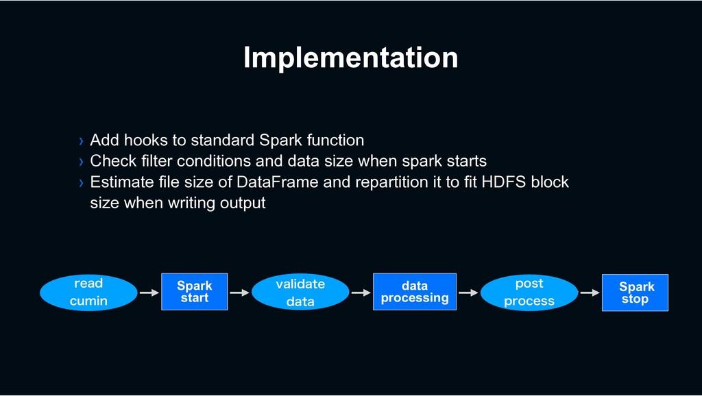 Implementation Spark start Spark stop WBMJEBUF...