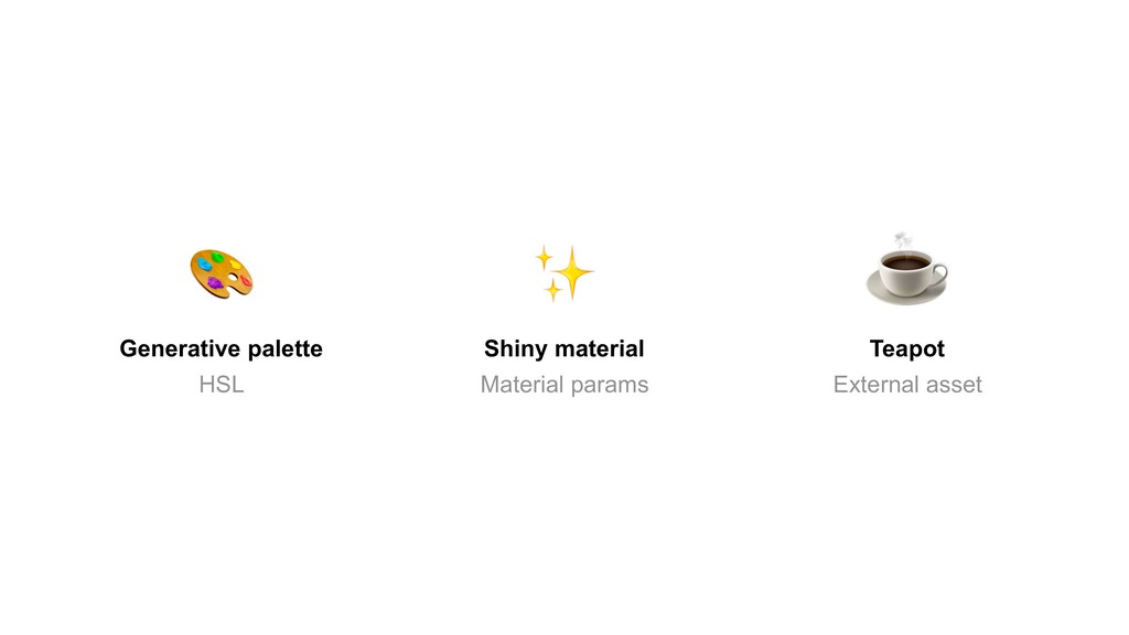 Shiny material Material params Generative palet...