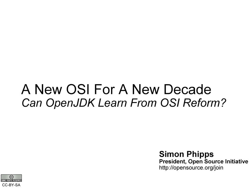 A New OSI For A New Decade Can OpenJDK Learn Fr...