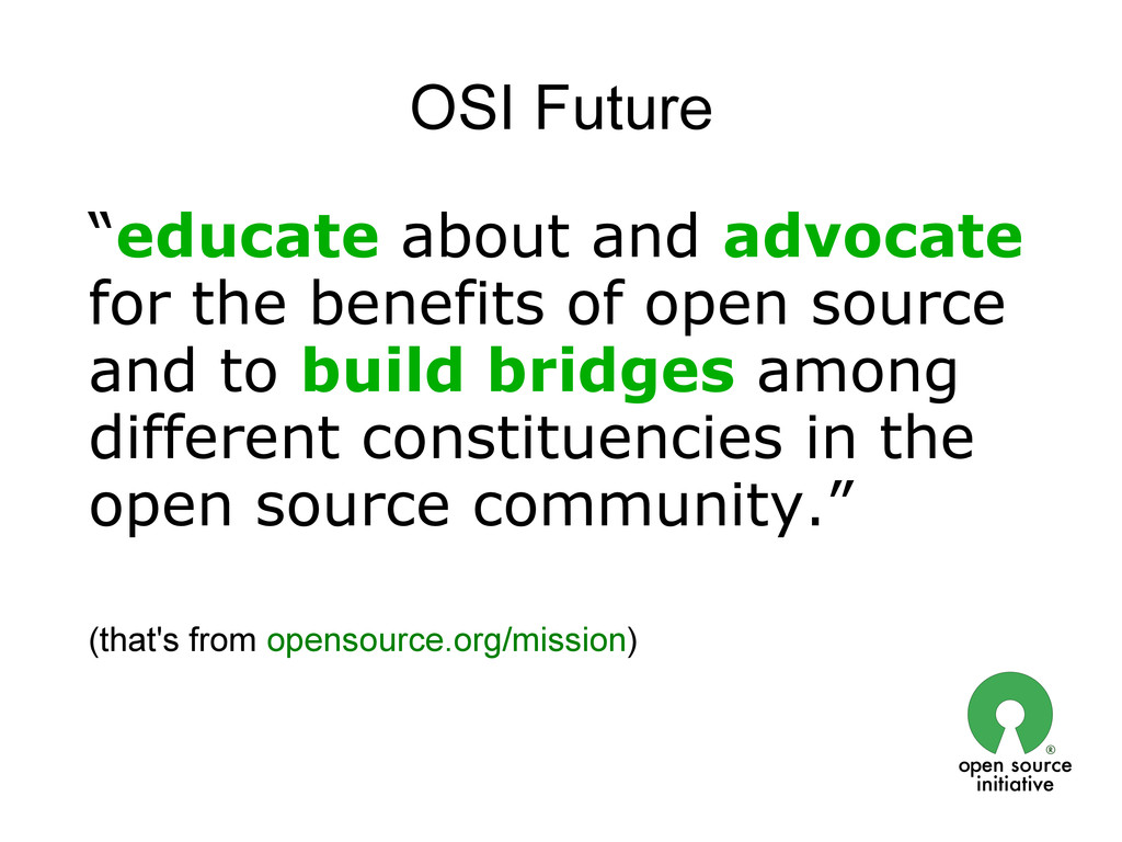 """OSI Future """"educate about and advocate for the ..."""