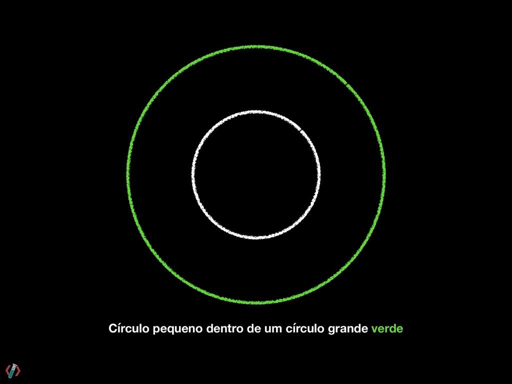 Círculo pequeno dentro de um círculo grande ver...