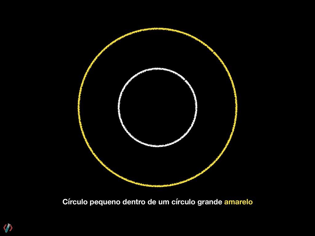 Círculo pequeno dentro de um círculo grande ama...