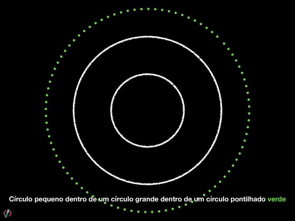 Círculo pequeno dentro de um círculo grande den...