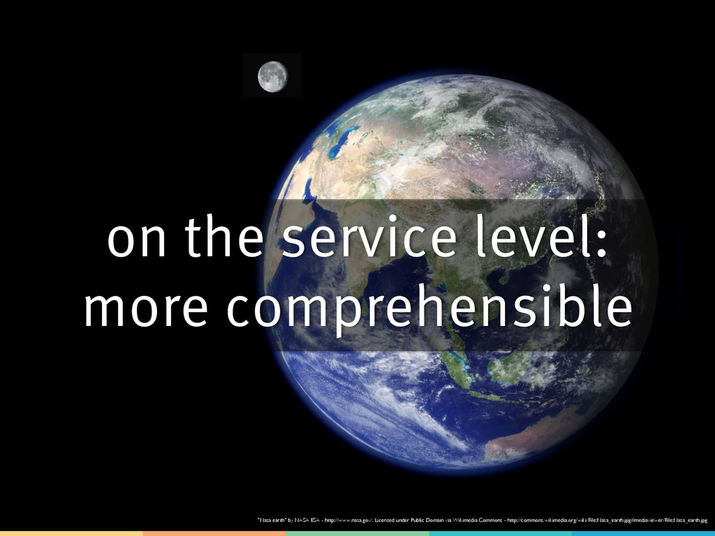 """on the service level: more comprehensible """"Nasa..."""