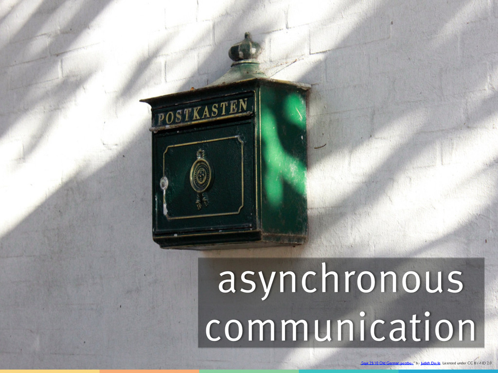 """asynchronous communication """"Sept 25/10 Old Germ..."""