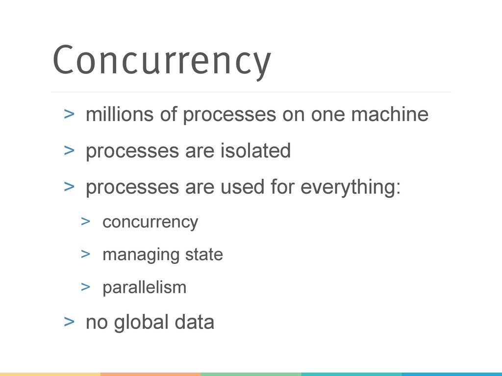 Concurrency > millions of processes on one mac...