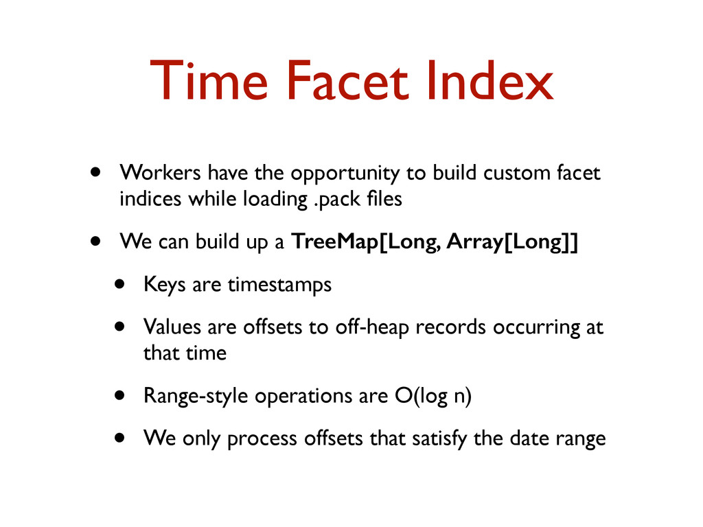 Time Facet Index • Workers have the opportunity...