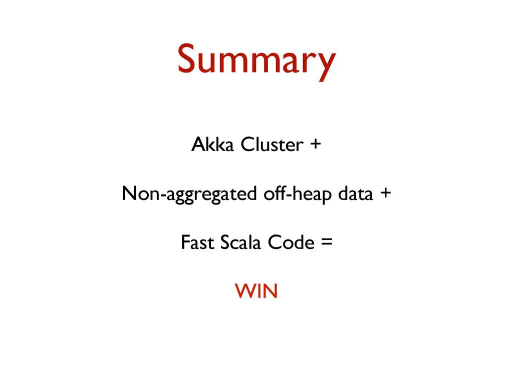 Summary Akka Cluster + Non-aggregated off-heap ...