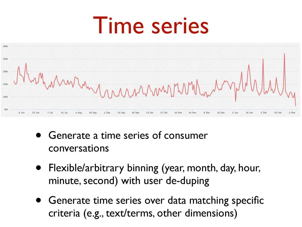 • Generate a time series of consumer conversati...