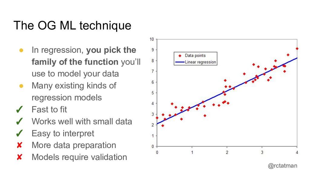 @rctatman The OG ML technique ● In regression, ...