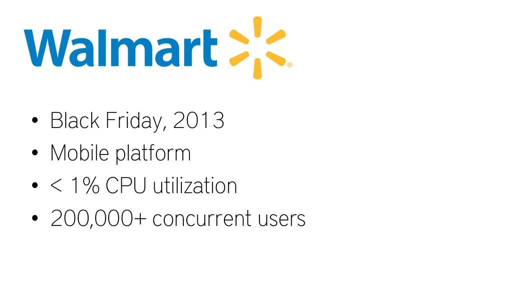 • Black Friday, 2013 • Mobile platform • < 1...