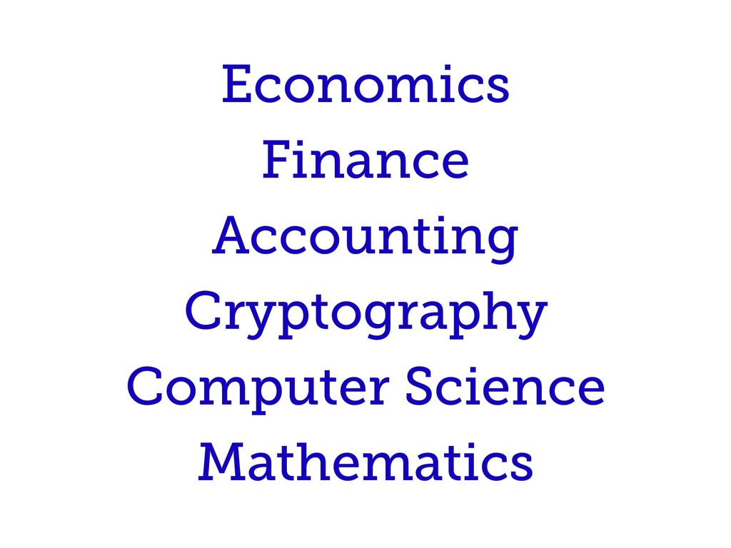 Economics Finance Accounting Cryptography Compu...