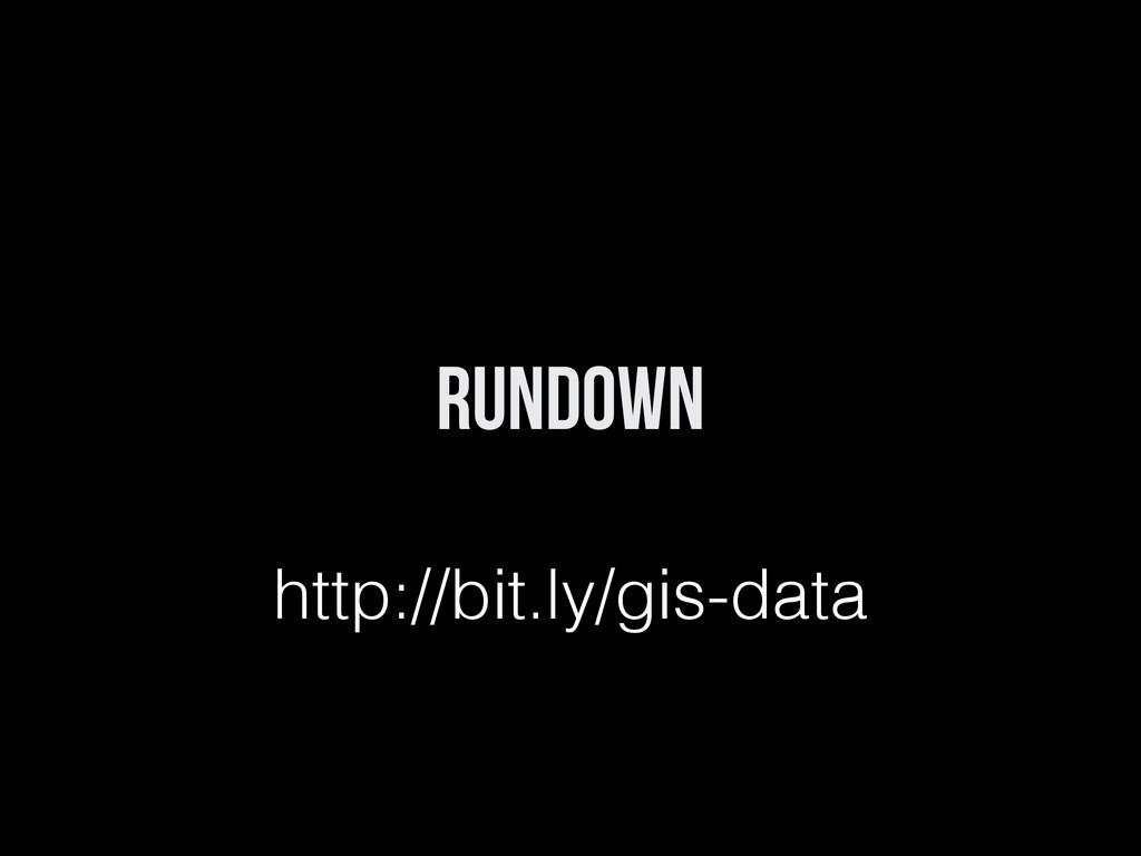 Rundown http://bit.ly/gis-data