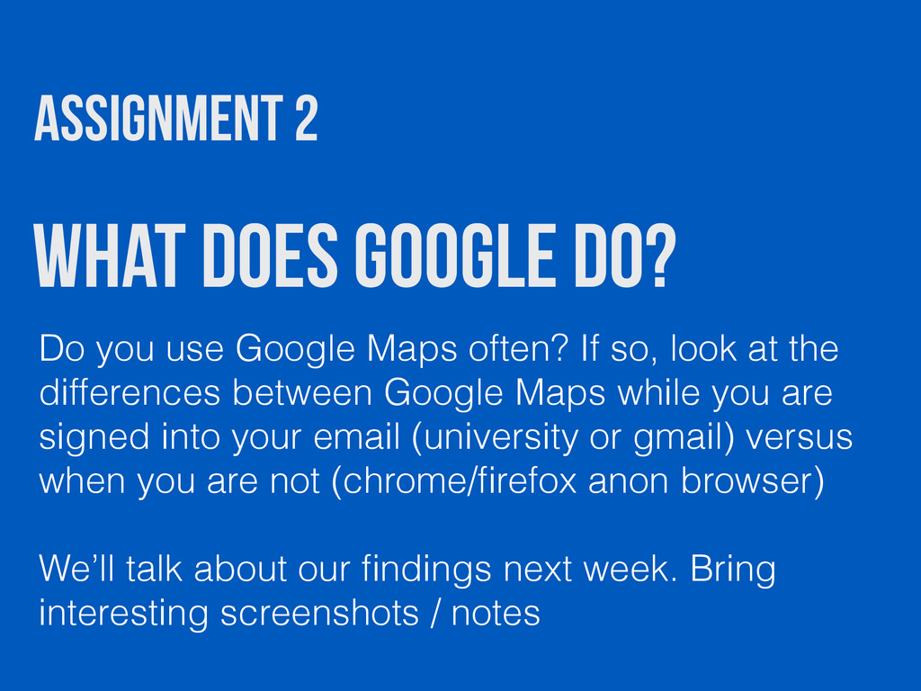 What does Google Do? Do you use Google Maps oft...