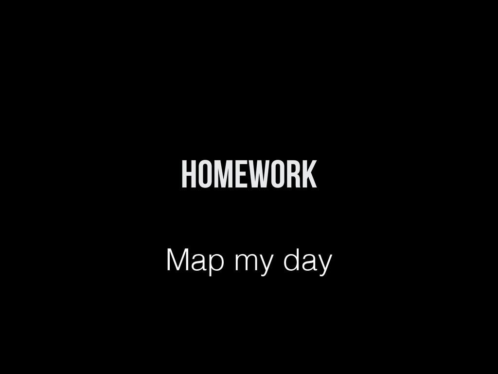 Homework Map my day